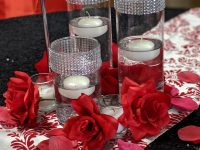 candle garden roses